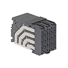 Molex Impel 92 Ohm, 4 Pair Right-Angle Daughtercard, 1.90mm Pitch, Unguided, 12 Columns, 96 Circuits, Plated Through Hole Dimension 0.36mm